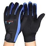 Diving Gloves, Aramox Neoprene Wetsuit Five Finger Gloves for Men Women Snorkeling Swimming Kayaking Diving Surfing