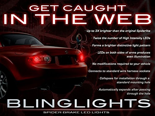 BlingLights White LED Spider Light Bulbs for Mazda Miata MX-5 ( All Years (Street Glow White Strobe Light)