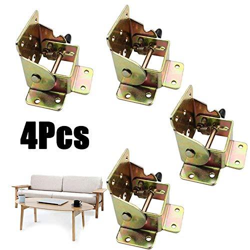 GAOPIN 4Pcs Iron Locking Folding Tables Chairs Leg Brackets Hinges Folding Brackets