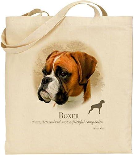 C/&S Howard Robinson Chien Boxer Coton Naturel Sac