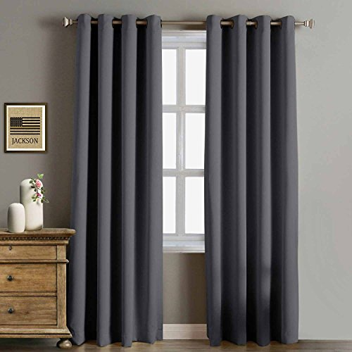 Rose Home Fashion RHF Funtion Curtain-Blackout curtains 96 inch,Bedroom Curtains Blackout Curtain Panels&96