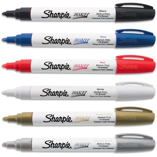 Sharpie Paint Marker Medium Point Oil Based 6 Color Set