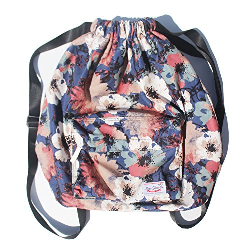 908f7f78af Galleon - Dry Wet Separated Swimming Bag Floral Waterproof Drawstring  Backpack Pool Beach Travel Gym Bag
