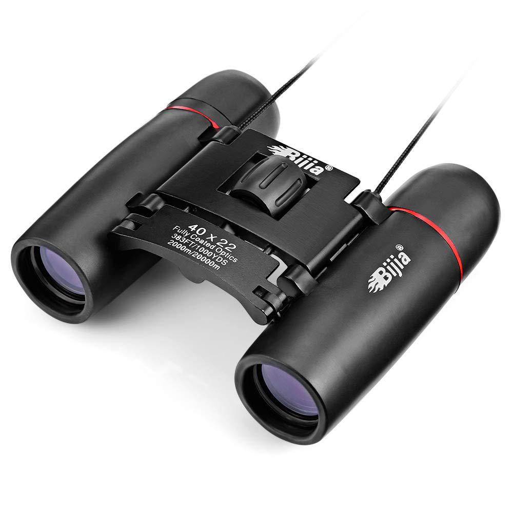 Telescopio Binocular Impermeable 40 x 22 Prismáticos Binoculares Portátiles Plegable Impermeable Binocular Compacto de Alta Resolución y Largo Alcance para Observación de Aves, Viajes, Acampar, Cazar, etc. 802cfe