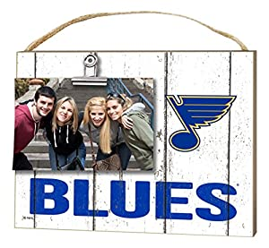 "KH Sports Fan 10"" x 8"" St. Louis Blues Clip It Weathered Logo NHL Photo Frame"