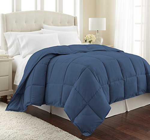 Southshore Fine Linens - Vilno Springs - Down Alternate Medium Weight Comforter - Dark Blue, TWIN / TWIN XL (Dark Blue Comforter)