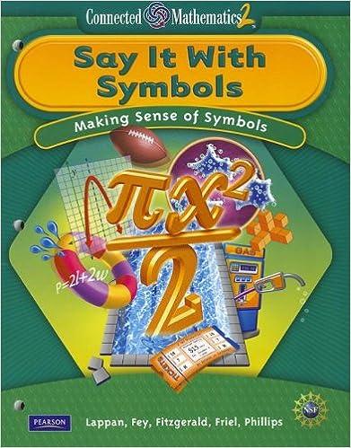 Amazon Connected Mathematics Grade 8 Student Edition Say It
