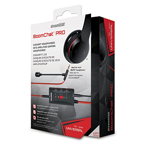 dreamGEAR - Boomchat Pro - covert music headphones into gaming headphones, includes boom mic and audio controls by dreamGEAR (Image #1)