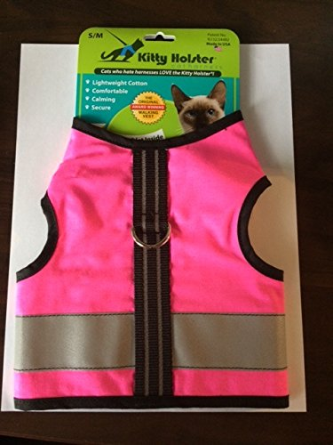 Kitty Holster Reflective Safety Harness Extra Small Neon Pink