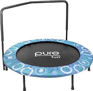 Pure Fun 9008SJ Super Jumper Kids Trampoline with Handrail, Blue - 48 Inches