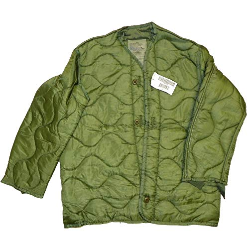 Field Jacket Liner, M-65, Olive Drab--Genuine Military Issue, Large - - Mens Field Jacket