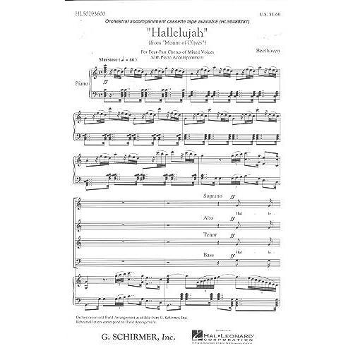 Hallelujah Piano Sheet Music Amazon