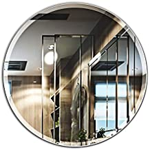 MIRROR TREND 28-Inch Round Frameless Mirror Large Beveled Wall Mirror | Solid Core Wood Backing | Wall Mirror for Bathroom, Vanity, Living Room, Bedroom
