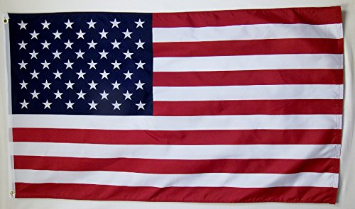 USA Polyester Flag 3' X 5' Indoor Outdoor American Banner ()