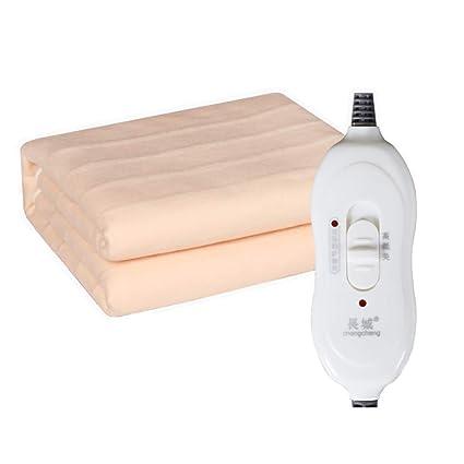 HUAITING Manta eléctrica Doble, Individual Calienta Camas eléctrico Control único, Franela Calientacamas eléctrico,