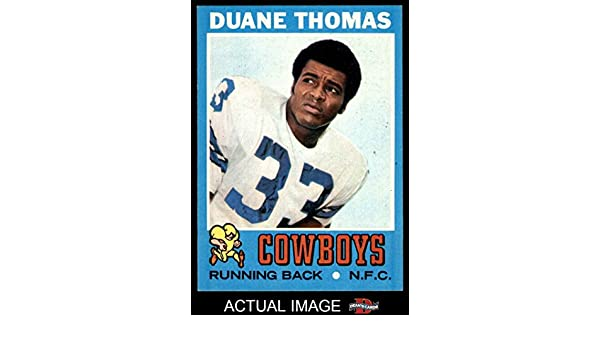 1be1a1f9776 Amazon.com: 1971 Topps # 65 Duane Thomas Dallas Cowboys (Football Card)  Dean's Cards 6 - EX/MT Cowboys: Collectibles & Fine Art