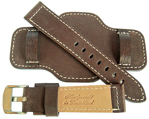 Fluco Bund 20mm Brown Leather Watch Strap