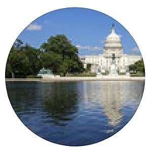 alfombrilla de ratón El edificio del Capitolio en Washington. - ronda - 20cm