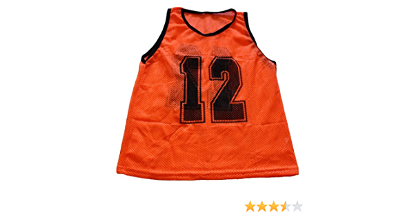 1 Qty Soccer Pinnie Team Mesh Practice Brand New Adult Orange Scrimmage Vest