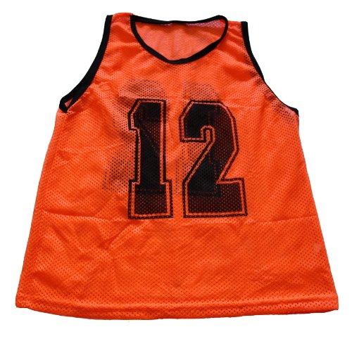 Workoutz QTY番号大人用オレンジScrimmageベストセット( 12 )サッカーエプロンドレス   B00JMXDIUU