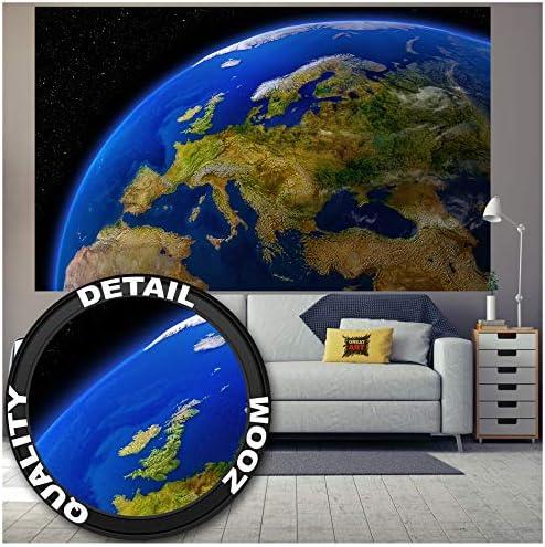 Great Art Fototapete Europa Am Tag Wandbild Dekoration Kontinente Planet Erde Galaxy World Map Daylight Earth Universum Cosmos Europakarte Foto Tapete Wandtapete 210 X 140cm Amazon De Kuche Haushalt