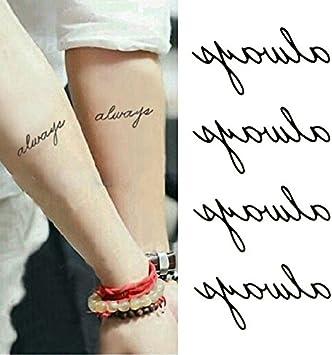 Oottati Tatuajes Temporales Inglés Always Brazo (Juego De 2 ...