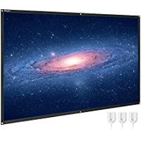 Projector Screen, 100 Inch Portable HD 16:9 Projection Screen Diagonal Foldable Indoor Outdoor Movie Screen with PVC Material