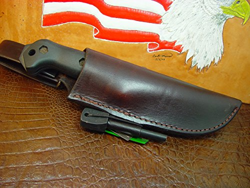 Bk 2 And BK 10 Dangler This sheath will fit both knives Sheath with Firestarter and Striker ()