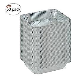 TigerChef TC-20533 Durable Half Size Deep Aluminum Foil Steam Table Pans with Recipe Card, Multi-Purpose Disposable Pans, 9\