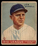 Baseball MLB 1933 Goudey #165 Joe Sewell VG Very Good RC Rookie Yankees
