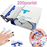 Nail Remover 200Pcs/lot Nail Art Gel Polish Lacquer Easy Cleaner Gel Nail Wraps UV Gel Remover Nail Art Tools