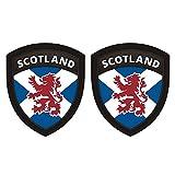 Scotland Flag Shield Decal SET 5%22x4%2E