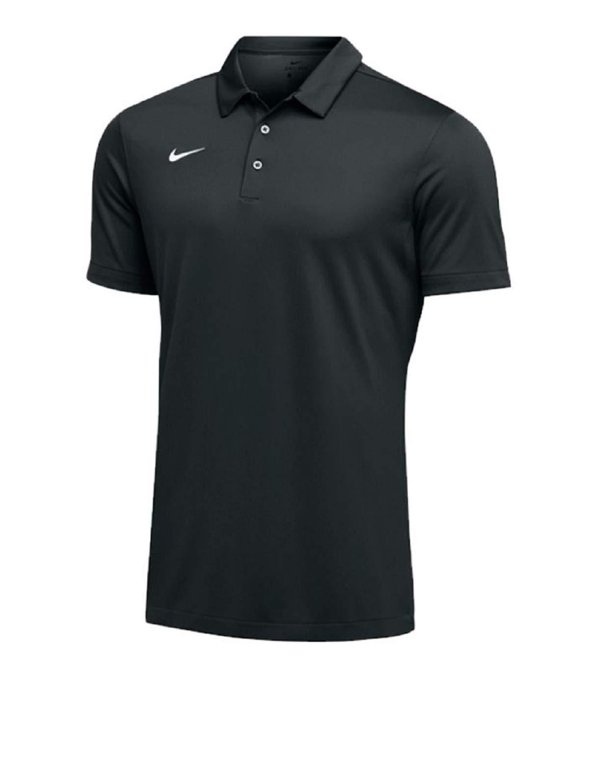 Nike Mens Dri-FIT Short Sleeve Polo Shirt (Small, Black)