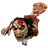 "Halloween Haunters 40"" Animated Crawling Human Zombie Torso Prop Decoration - Animatronic Crawl Rubber Latex Moaning Dead Man - Battery Operated"