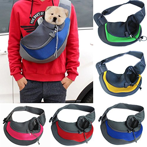 Large Size Portable Travel Carrier Sponge Puppy Shoulder Tote Breathable Backbag Pet Dog Cat Chest Bag (Chest Cat)