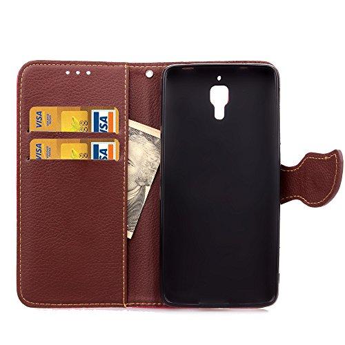 Funda Piel con Tapa para Xiaomi Mi4,Flip Fina Case de Cuero Billetera para Xiaomi Mi4, TOCASO Personalizada Completa Wallet Ultra Slim Cartera Carcasa Sólido Colored Flor Cover, Magnet Hoja del Arbol  Negro