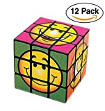 12 pack Emoji Smile Face Magic Cubes For party favors / Giveaways