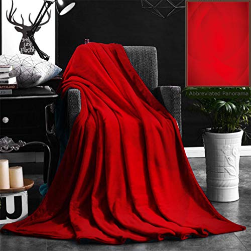 """Nalagoo Unique Custom Flannel Blankets Abstract Background Of Curved Lines In Red Colors Super Soft Blanketry for Bed Couch, Throw Blanket 40"""" x 60"""""""