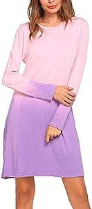 Sweepstakes: Acelitly Women's Long Sleeve T-Shirt Dress