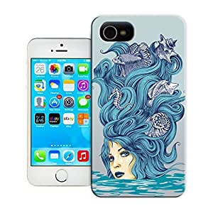 Unique Phone Case Other patterns rachel caldwell woman sea art Hard Cover for iPhone 4/4s cases-buythecase