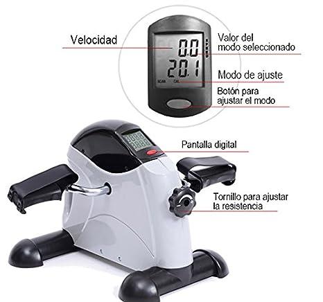 HOMCOM Bicicleta Estatica Fitness 40x39x29cm para pedalear Sentado ...
