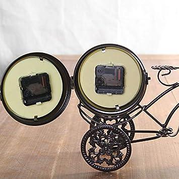 Noblik Horloge de Bicyclette en M/éTal Design Bureau de Bureau /à la Maison Cr/éAtif Vintage Fer Grande Montre Cadeau de D/éCoration Collection dart Noir