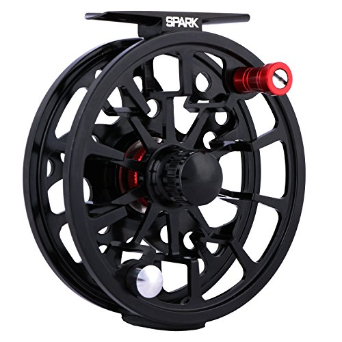 Goture Spark Fly Fishing Reel 2+1BB Super Lightweight CNC-Machined Aluminum Alloy Body 5/6, 7/8 Weights with Large Arbor Freshwater or Saltwater -
