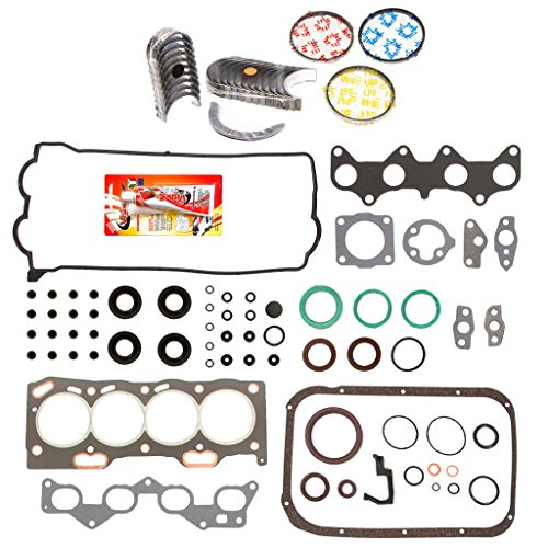 "Domestic Gaskets Engine Rering Kit FSBRR2016EVE\2\1\1 Fits 92-95 Toyota Paseo 1.5 DOHC 5EFE Full Gasket Set, 0.25mm / 0.010"" Oversize Main Rod Bearings, 0.50mm / 0.020"" Oversize Piston Rings"