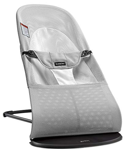 BABYBJORN Bouncer Balance Soft – Silver White, Mesh