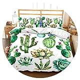 3D Bedding Set Tropical Plants Print Duvet Cover Set Lifelike Bedclothes with Pillowcase Bed Set Home Textiles,5,US King,China