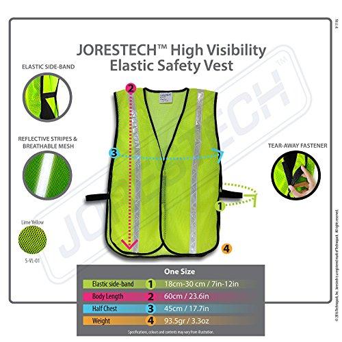 JORESTECH Emergency High visibility safety vest with reflective stripes (50 Vest, Yellow) by JORESTECH  (Image #6)