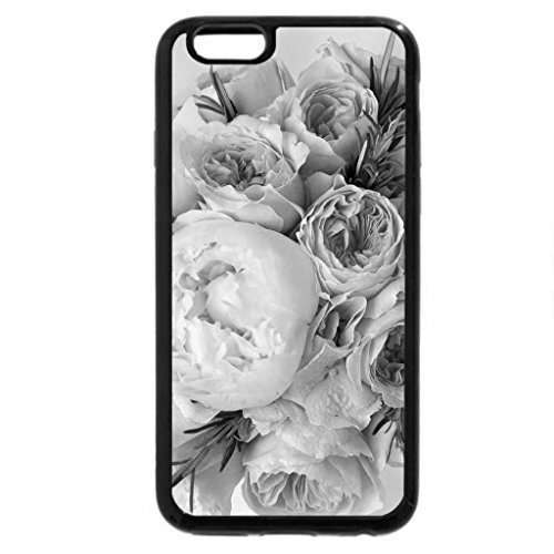 iPhone 6S Plus Case, iPhone 6 Plus Case (Black & White) - Bouquet of peonies and roses for Annie - ForeverSunShine