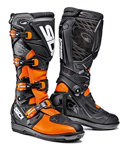 (Sidi X-3 SRS Off Road Motorcycle Boots Black/Flo Orange US11/EU45 (More Size Options))