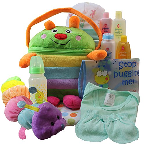Cuddly Cutie Bug Baby Gift Basket, Neutral Boy or Girl
